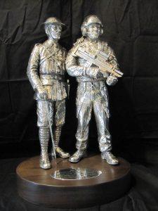 Battle of Cambrai Silver Centrepiece by Vivien Mallock