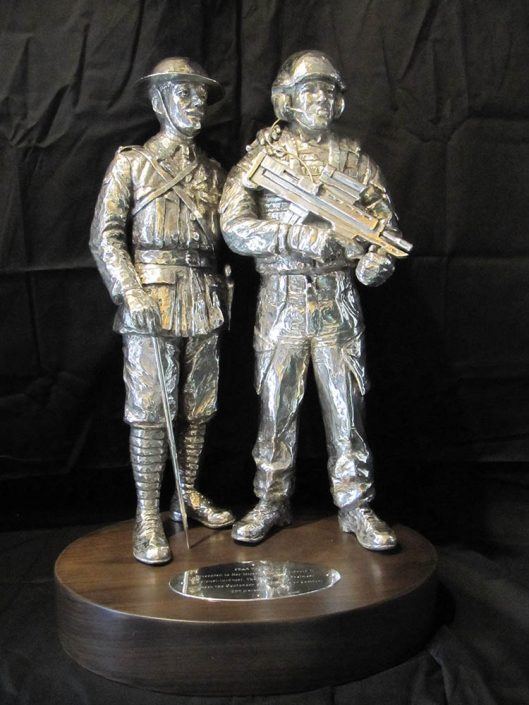 Battle of Cambrai Silver Centrepiece by Vivien Mallock