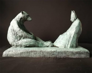 'Bishop and Bear' by artist Tessa Campbell-Fraser