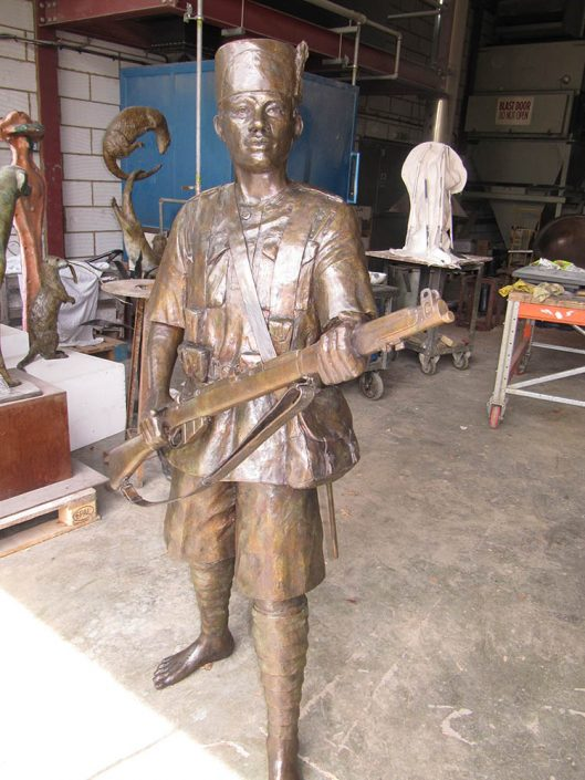 East African Askari Soldiers Statue by Vivien Mallock