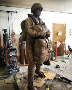 Looking forward to patination day tomorrow on this life size figure by artist Amy Goodman that we've recently finished