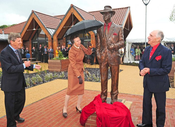 Princess Anne unveiling Will's life size portrait of Jack Berry