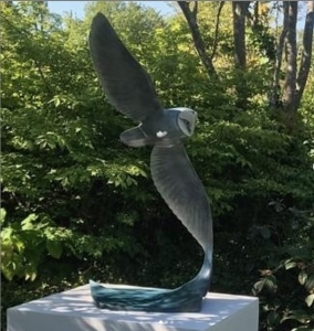 'Spirit' bronze sculpture of an owl by artist and Talos team member Matt Duke looking amazing in the garden last weekend