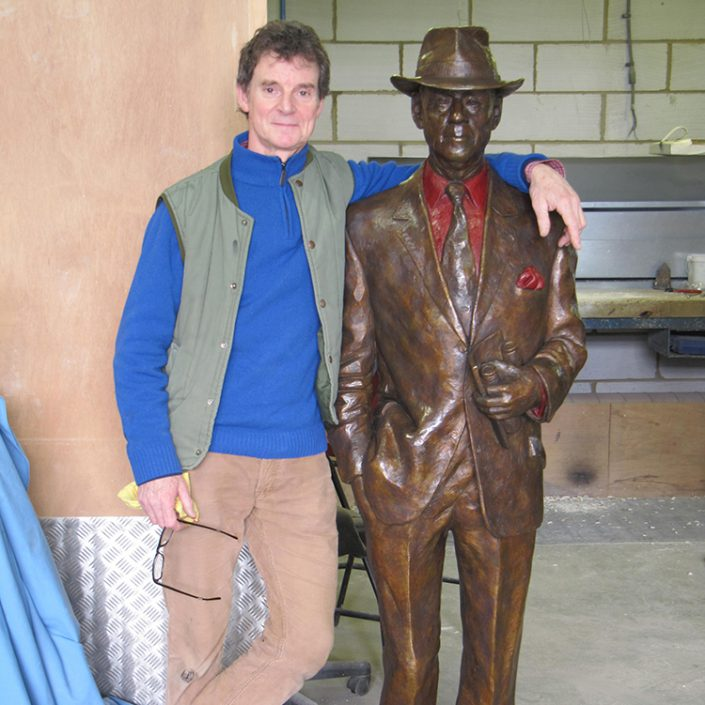 William Newton with 'Jack Berry' in the foundry