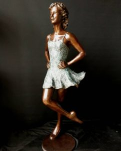 Half life size Irish Dancer by artist Vivien Mallock