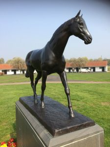 Mill Reef waxed and polished at the National Stud, Newmarket