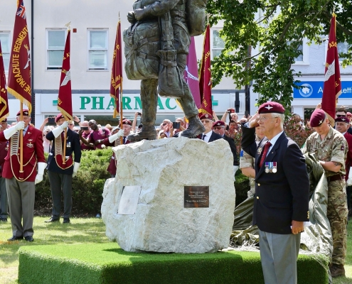 The Airborne Soldier bronze statue