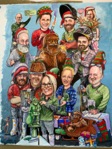 2020 Christmas card by Bryn Parry OBE