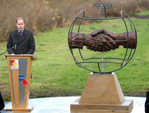 Georgie Welch 'Memorial to WW1 football match' unveiled by Prince William